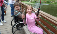 Shriners Hospital Fishing Day at Camp Angelos