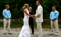 Wedding on the beach at Camp Angelos