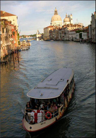 Europe Collection - Water Taxi Grande Canal in Venice