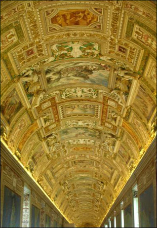Rome Collection - Hallway Ceiling in one of the Vatican Museums