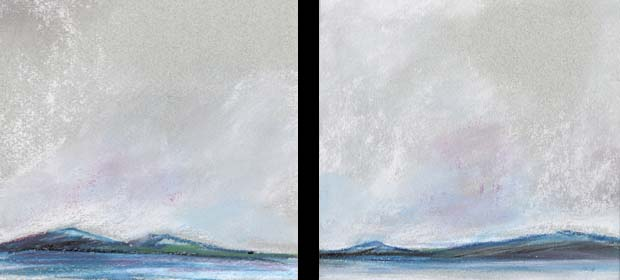 Grey Landscape Diptych