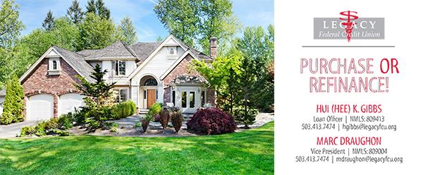 Purchase or refinance. HUI K. Gibbs, loan officer, 503-413-7474 Marc Draughon, VP, 503-413-7474
