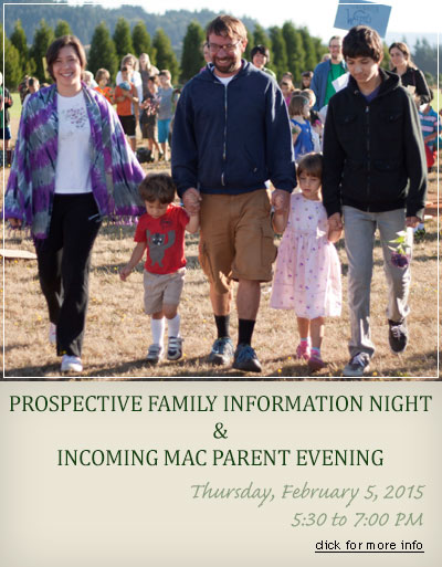 Prospective Family Information Night & Incoming MAC Parent Evening