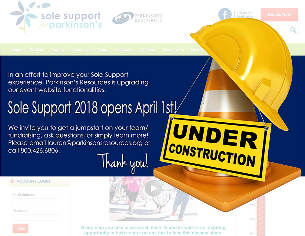 Sole Support Site - Under Construction
