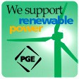 We use Renewable Power from PGE